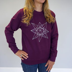 Geometric Star Outline Jumper - sweatshirts & hoodies