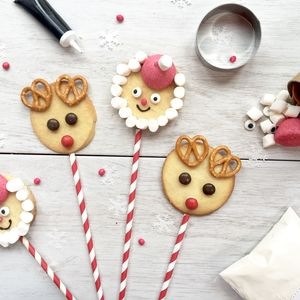Festive Face Biscuit Pop Kit - new in food & drink