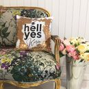 Personalised 'Hell Yes' Sequin Cushion Cover