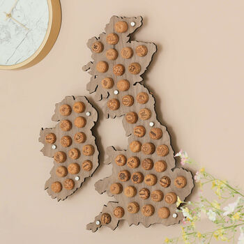 Wine Cork Collector British Isles Map Wall Art