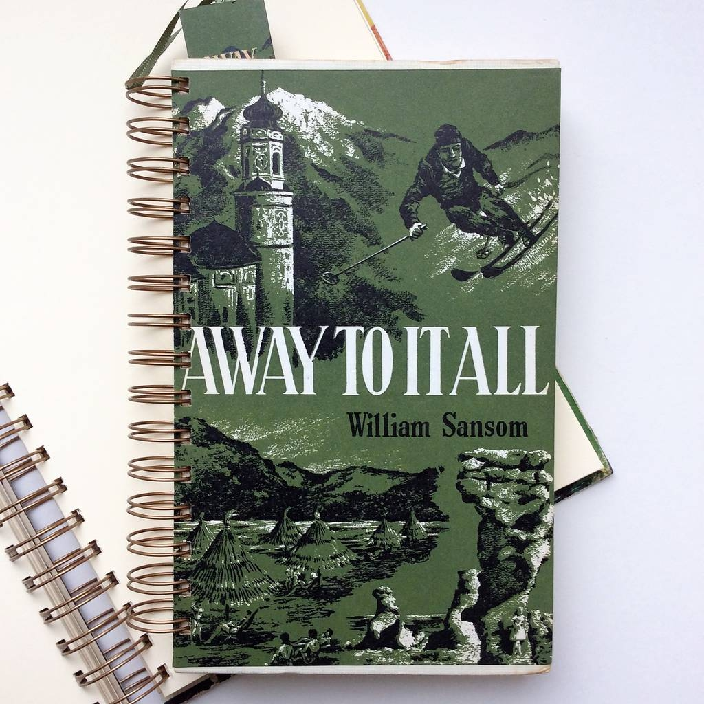 'Away To It All' Upcycled Notebook