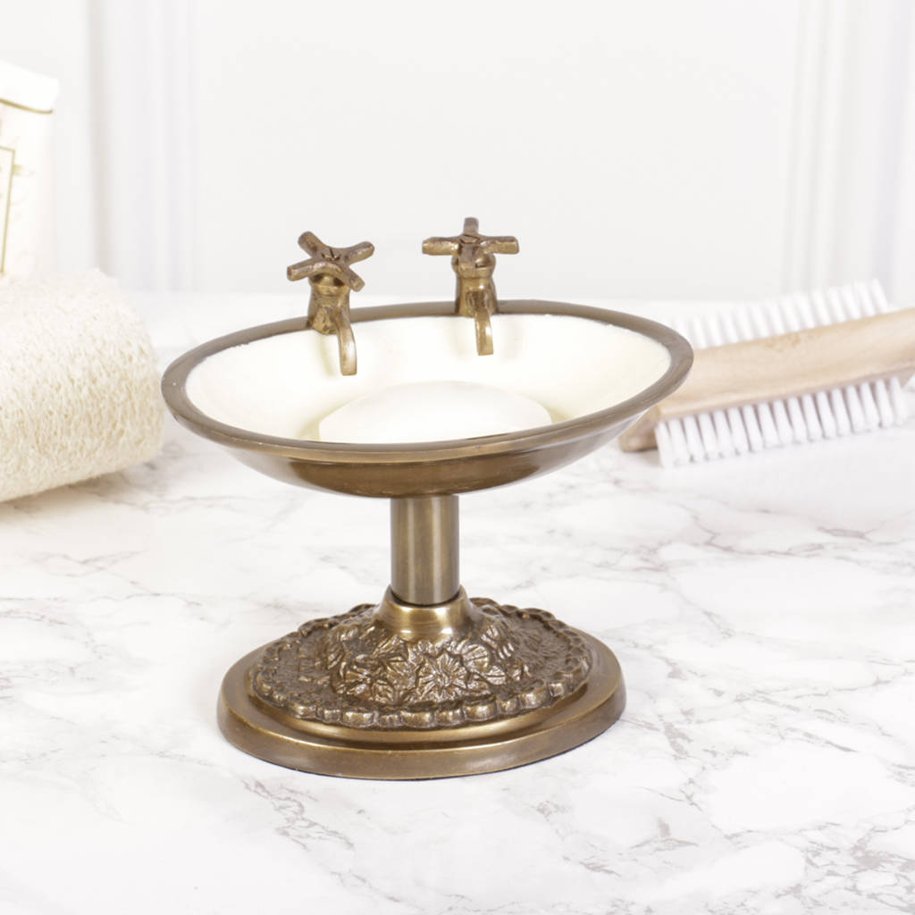 Period Style Brass Soap Dish