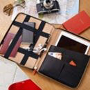 Personalised Luxury Leather Travel iPad Case