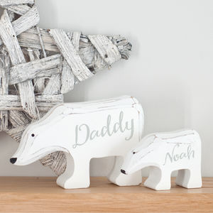 Personalised Bear Family Wooden Ornaments Gift - decorative accessories