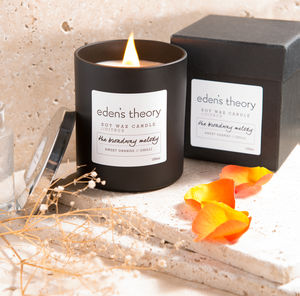 'The Broadway Melody' Wood Wick Soy Wax Candle - home accessories