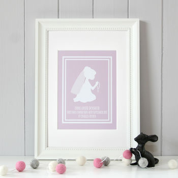 Personalised First Holy Communion Print Girl