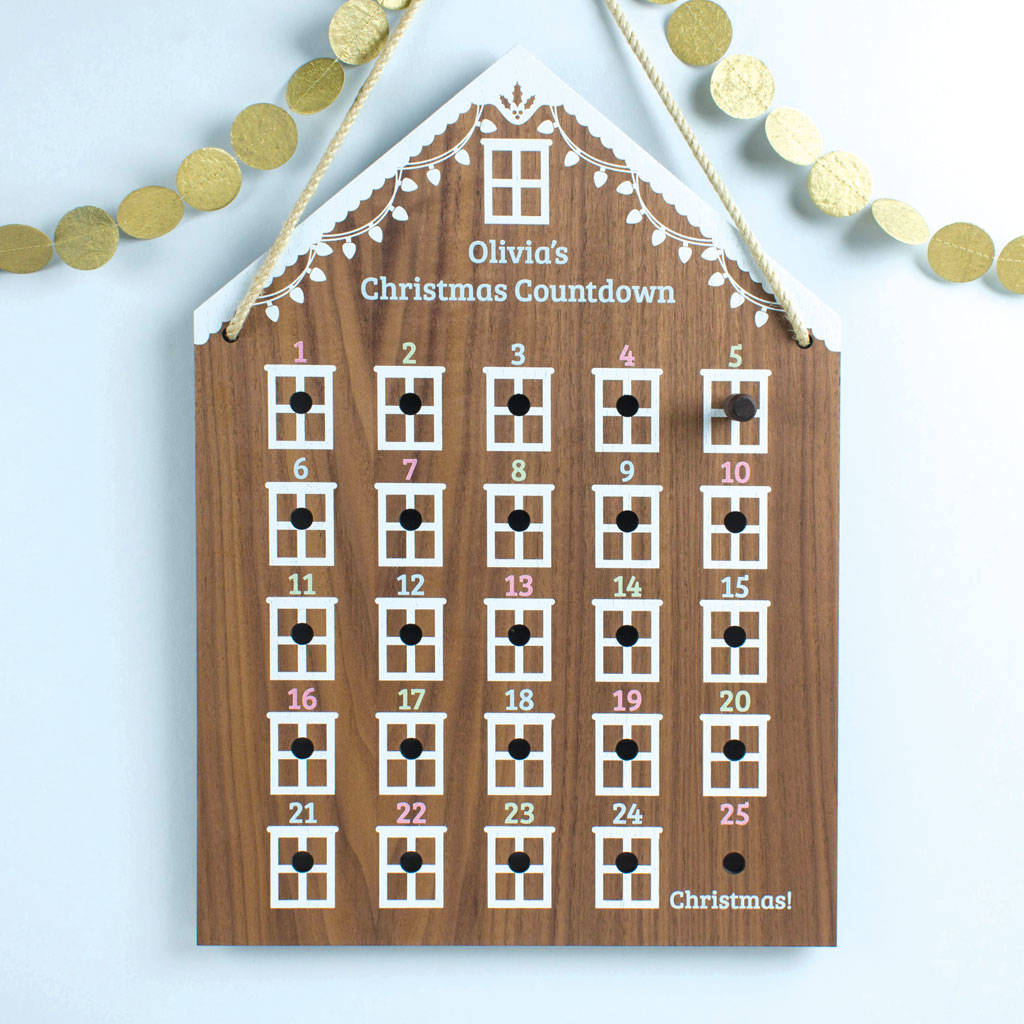 Personalised Advent Calendar House By