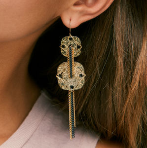 Chain Drop Earrings - statement jewellery