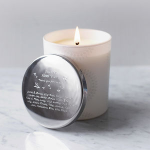 Personalised Teacher Candle - gifts for teachers