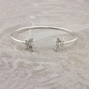 Bee Bangle In Sterling Silver