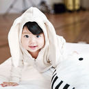 Bunny Hooded Jumpsuit Cream - Look 2
