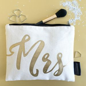 Mrs Wedding Gift Make Up Bag - make-up & wash bags