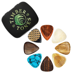 Electric Guitar Tin Of Eight Guitar Picks / Plectrums