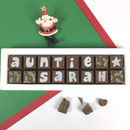 Personalised Chocolates For Auntie This Christmas