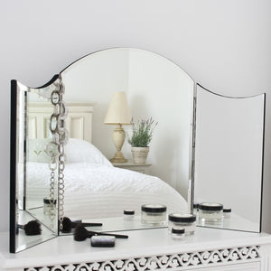 Alexa Plain Venetian Dressing Table Mirror - bedroom