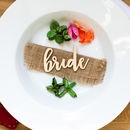 Personalised Wooden Name Place Settings