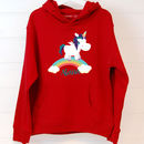 Child's Personalised Unicorn Hoodie