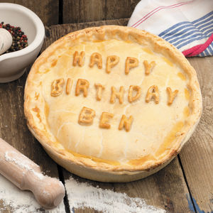 Giant Personalised Happy Birthday Pie - 50th birthday gifts