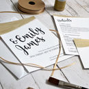 Personalised Gold Wedding Invitation Set