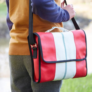 Recycled Fire Hose Messenger Bag