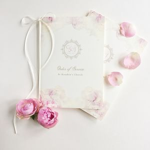 Charlotte Order Of Service Booklet - wedding stationery