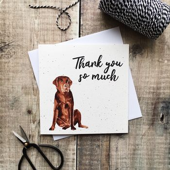 Thank You So Much Labrador Card