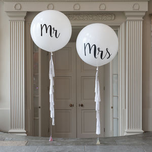 Set Of Two Mr And Mrs Giant Balloons - outdoor decorations