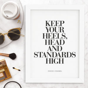 'Keep Your Head High' Fashion Typography Print