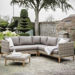 Rattan Corner Sofa Set - garden furniture
