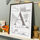 Personalised Initial Alphabet Explorer Children's Print
