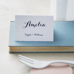 Elegance Wedding Place Cards - your winter wedding