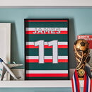 Personalised Rugby Shirt Print, Unframed