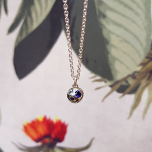 Silver Aquamarine Sapphire And Iolite Orb Necklace - necklaces & pendants