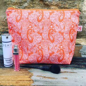 Tangerine Cotswold Paisley Wash Bag - make-up & wash bags