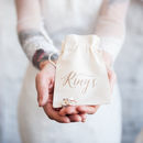 Gold Calligraphy Wedding Ring Bag