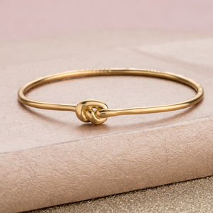 Personalised 'Tie The Knot' Bangle - gifts for the bride
