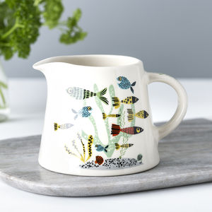 Handmade Ceramic Fish Milk Jug