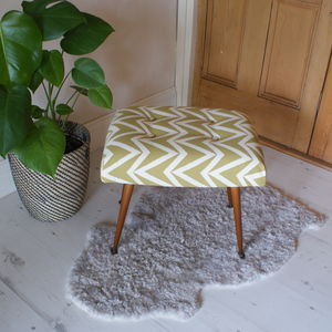 Mid Century Chevron Stool - sale by category