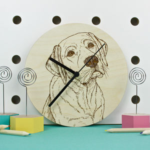 Labrador Portrait Wall Clock - clocks