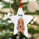 Personalised Dog Christmas Tree Decoration Bold