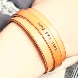 Personalised Real Leather Hudson Bracelet For Men