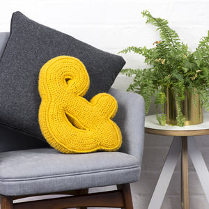 Crochet Ampersand Cushion - cushions