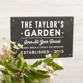 Personalised Garden Slate Sign - home