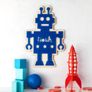 Boys Robot Personalised Bedroom Sign