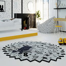 'A Dreamer's World' Monochrome Wool Rug