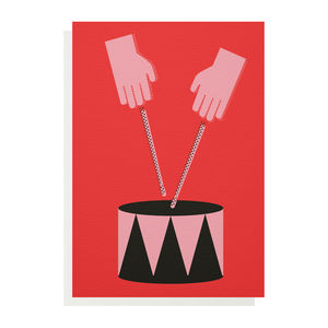Drum Greetings Card