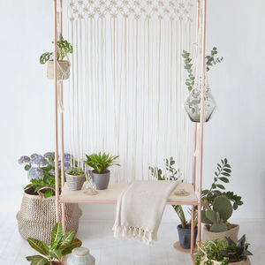 Copper And Birch Plywood Indoor Garden Plant Stand - home accessories