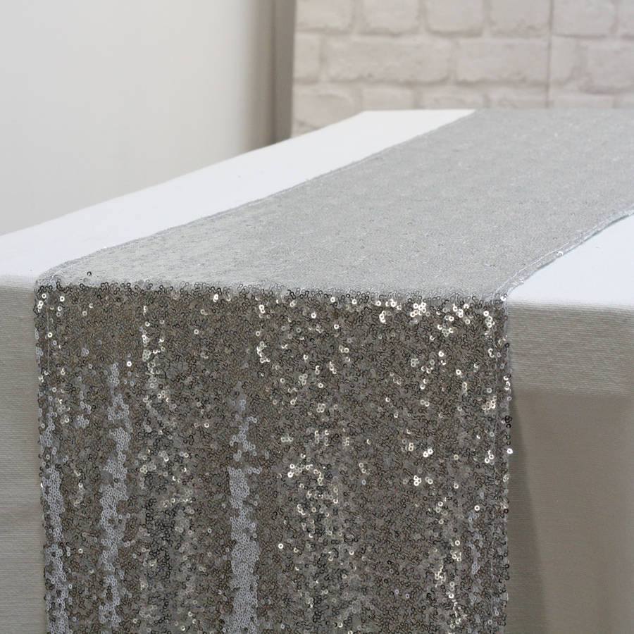Sequin Table Runner Silver / Rose Gold By The Wedding Of