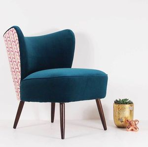 The New Bartholomew Cocktail Chair In Teal Velvet - furniture