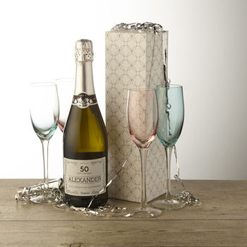50th Birthday Personalised Prosecco